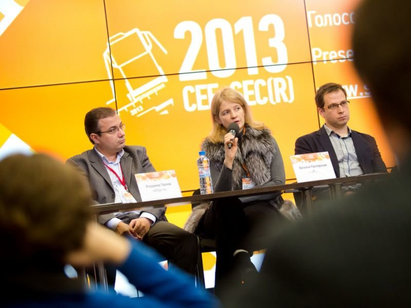 "Natalia Kaspersky at the discussion ""How to launch local startup to global market?"""