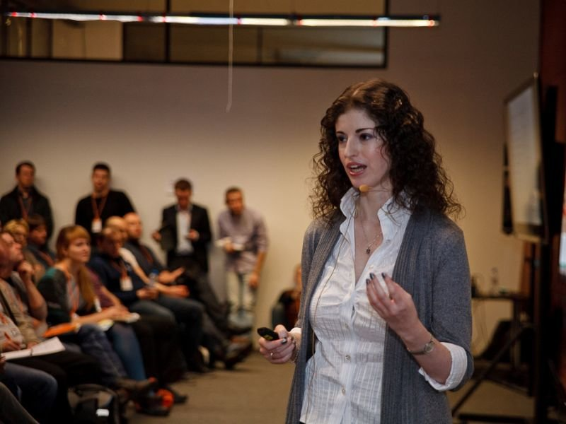 "Evgenia Firsova, Yandex.Money with presentation ""Developer's KPI"""